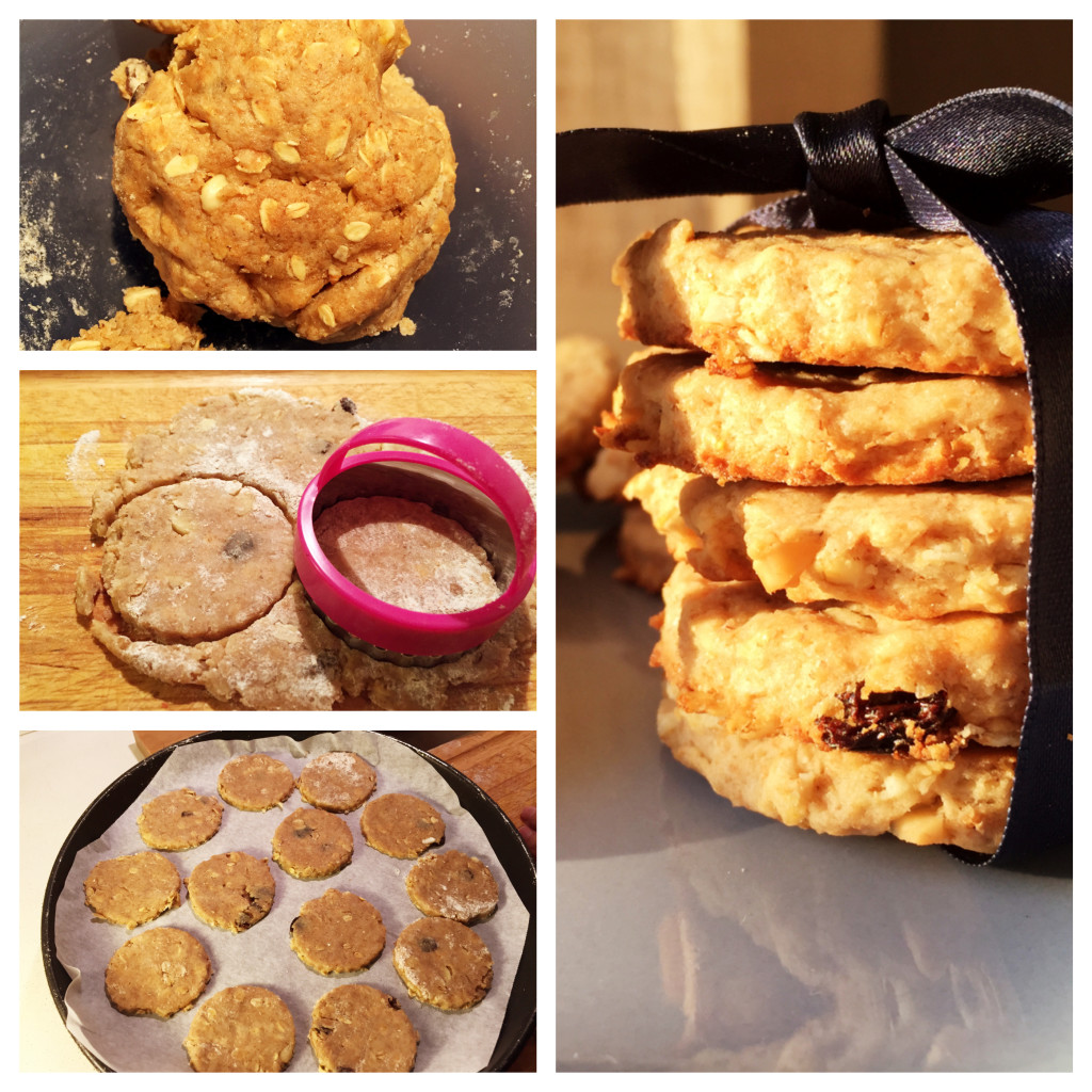 Biscotti integrali con fiocchi di avena e uvetta