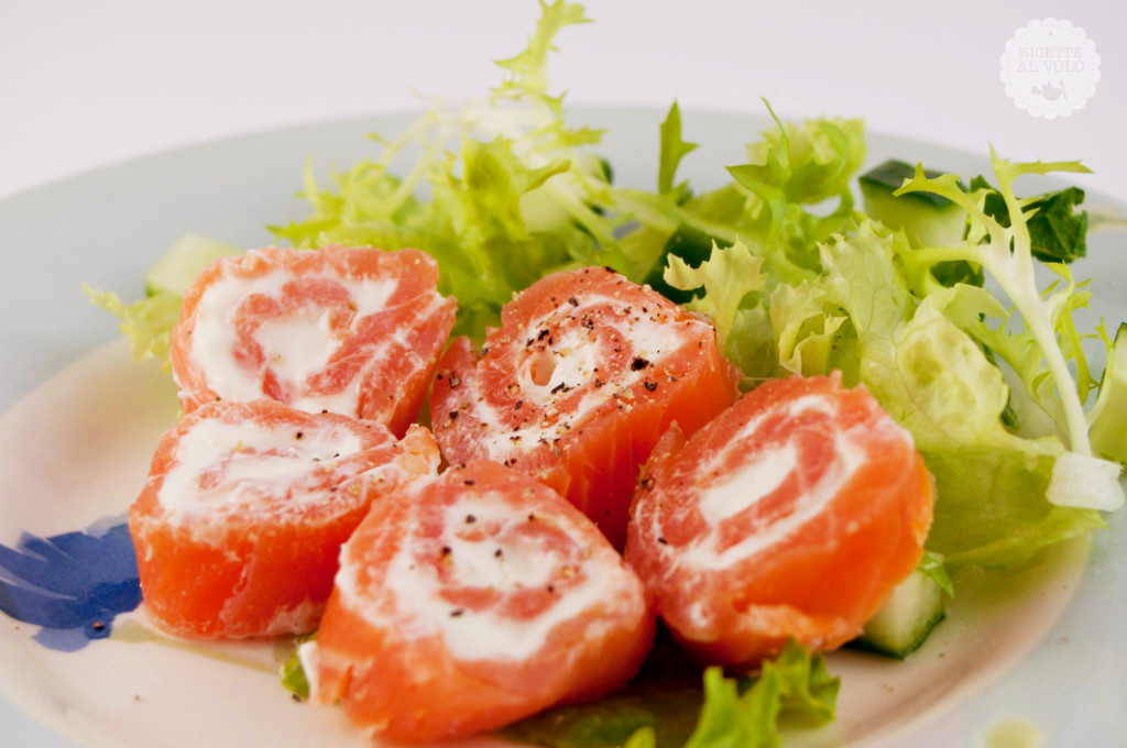 Girelle di salmone affumicato