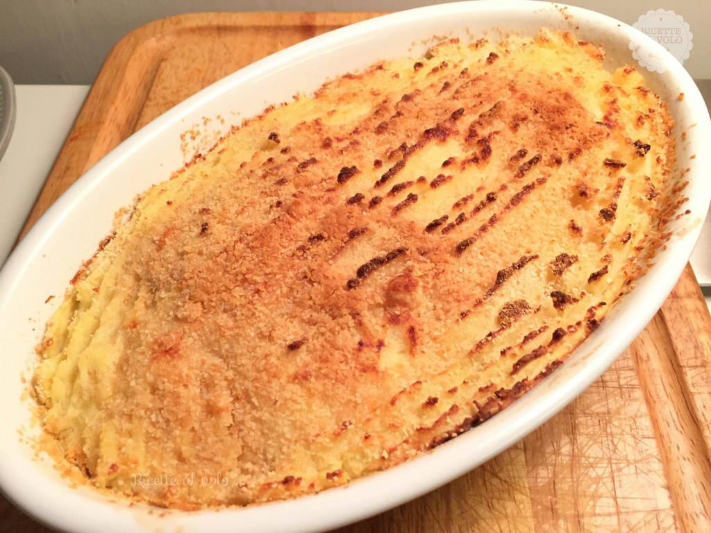 Sformato di patate con cuore filante di mozzarella