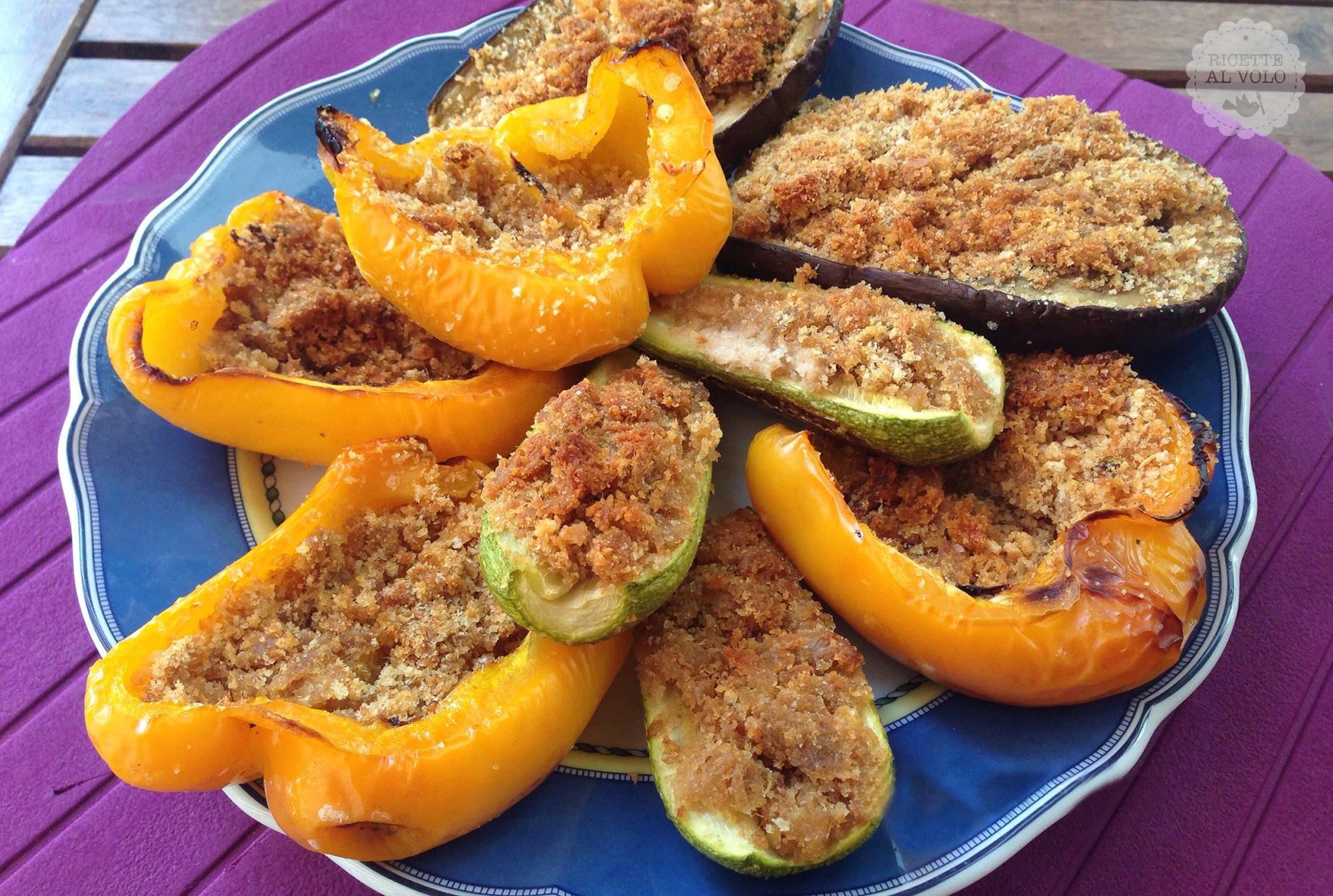 Verdure al forno gratinate ripiene di tonno ricette al volo for Ricette di verdure