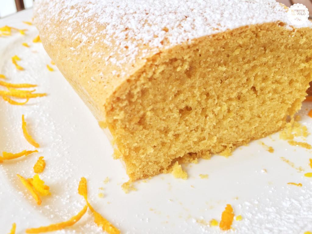 Plumcake all'arancia con farina di avena