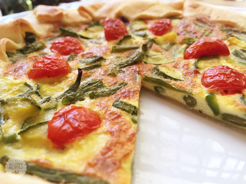Torta salata con verdure e grana