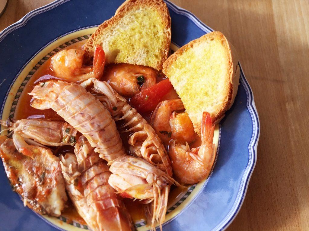 zuppa pesce pane