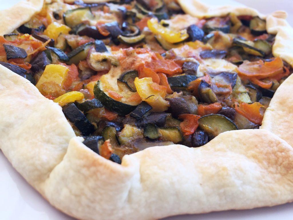Torta salata con verdure e ricotta