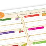 Menu settimanale e lista della spesa stampabili