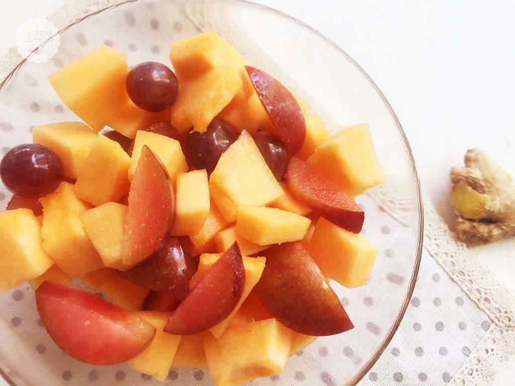 Macedonia di melone speziata allo zenzero