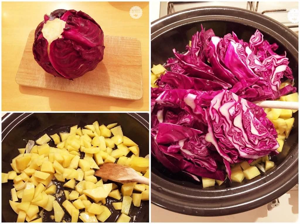 La zuppa di cavolo rosso e patate