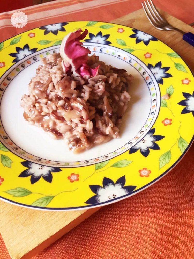 risotto radicchio piatto