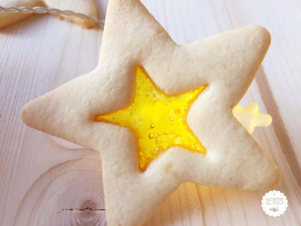 Biscotti di Natale effetto vetro