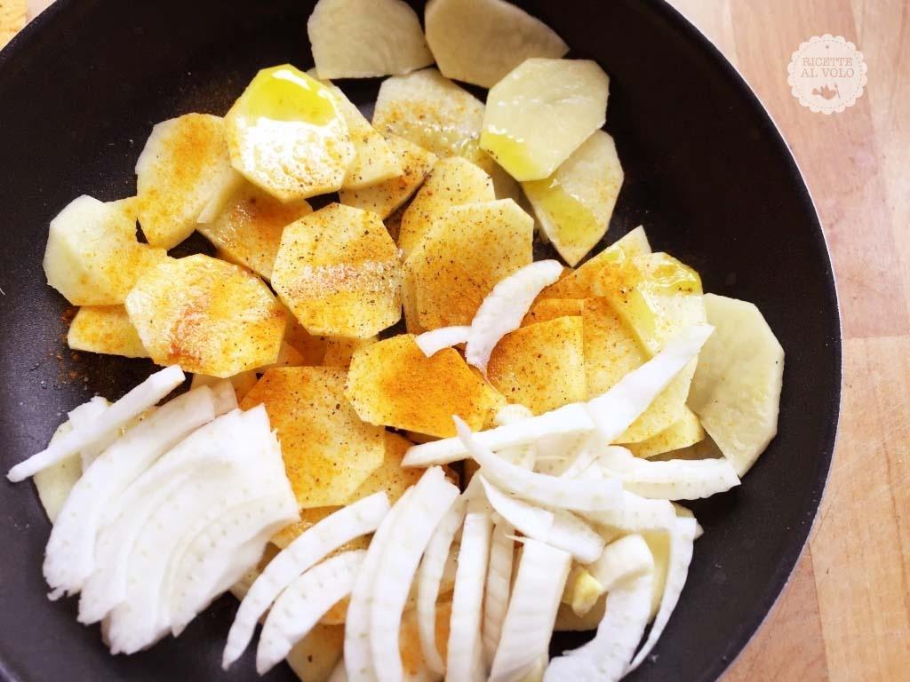 finocchi patate curcuma