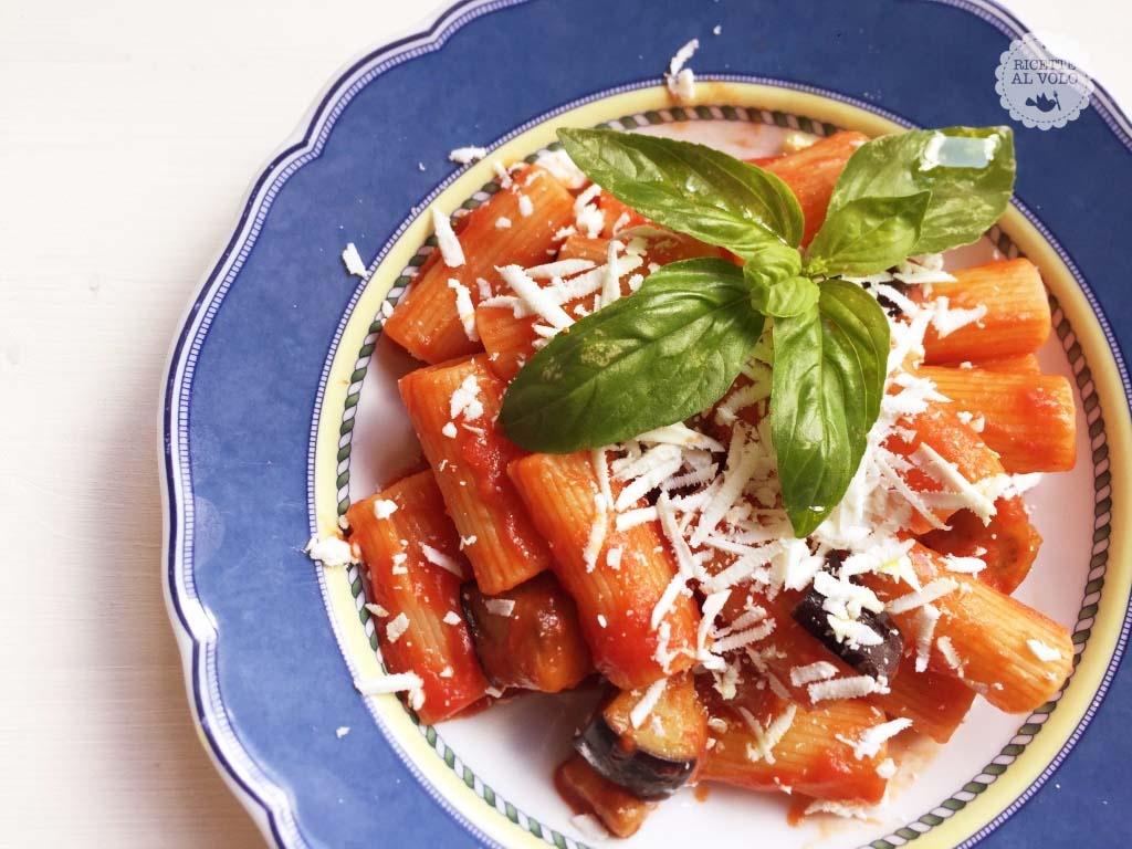 rigatoni formaggio basilico