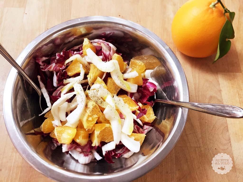 Insalata di radicchio, finocchi e arance