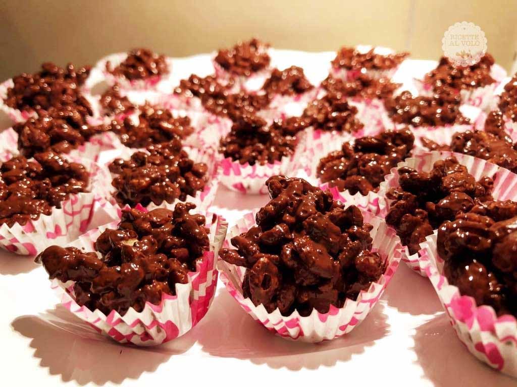 Dolcetti al riso soffiato e cioccolata