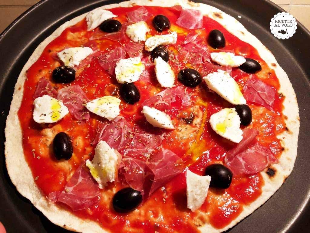 Piadine pizza veloci al forno