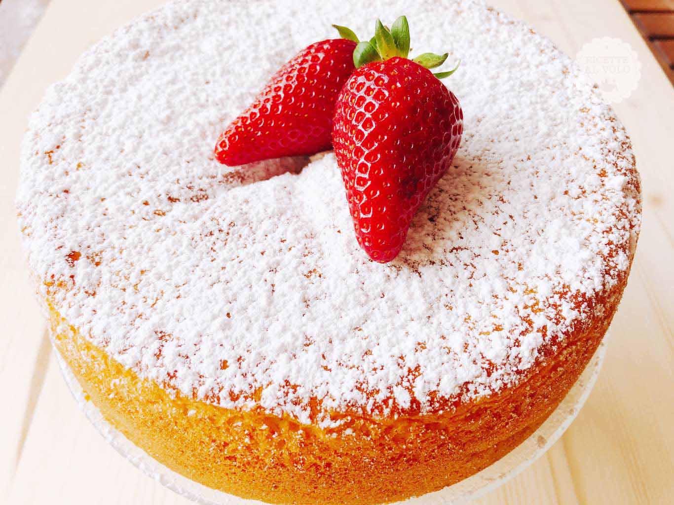 torta fragole zucchero a velo