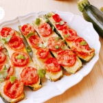 piatto zucchine pomodori