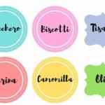etichette stampabili cucina