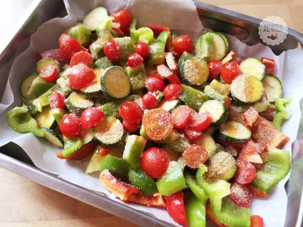 Gran misto di verdure sabbiate