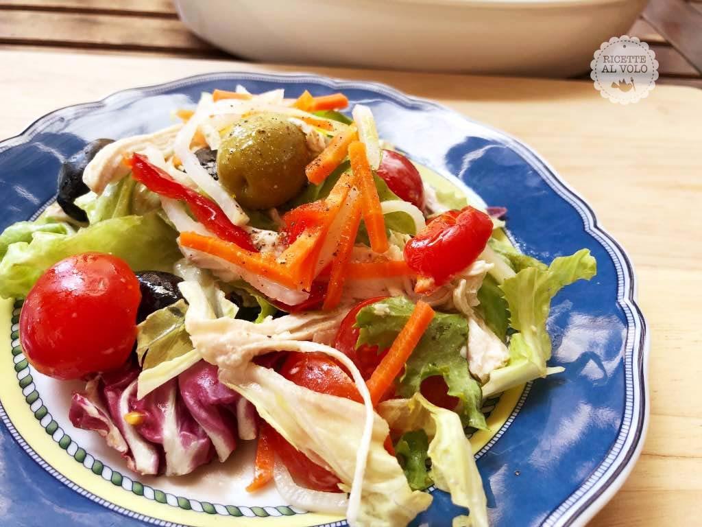 Ricetta Insalata di pollo con verdure