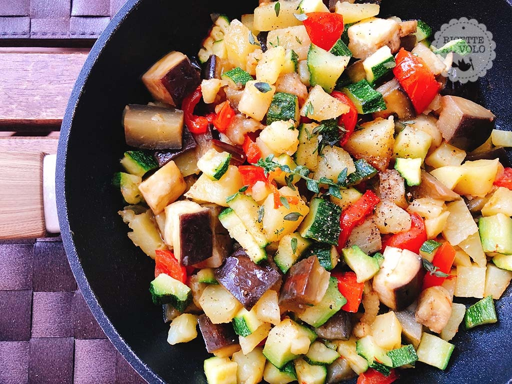 padella con verdure miste