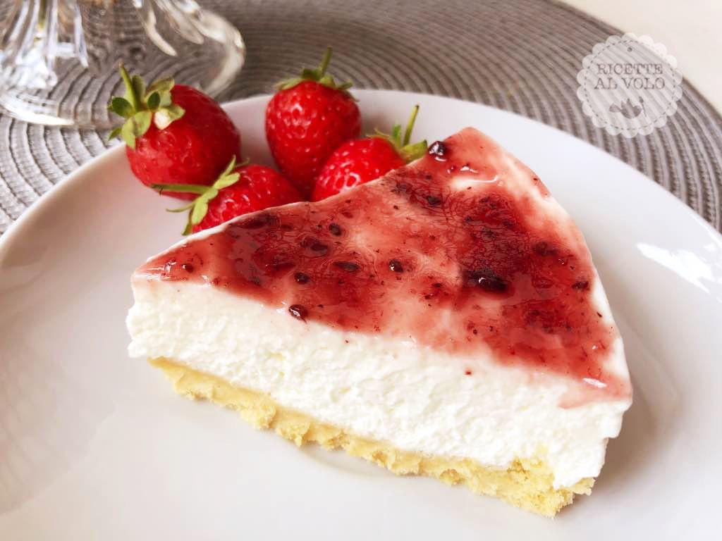 Cheesecake fredda con preparato di Molino Rossetto