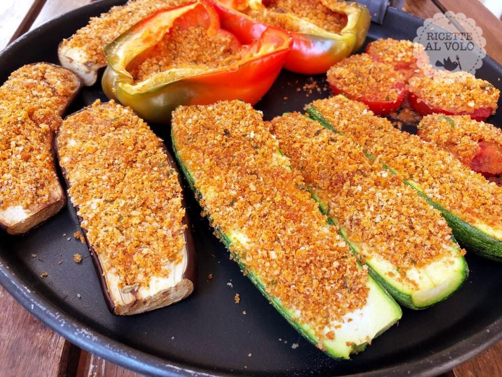 Verdure gratinate veloci con piatto crisp ricette al volo - Forno a microonde con crisp ...