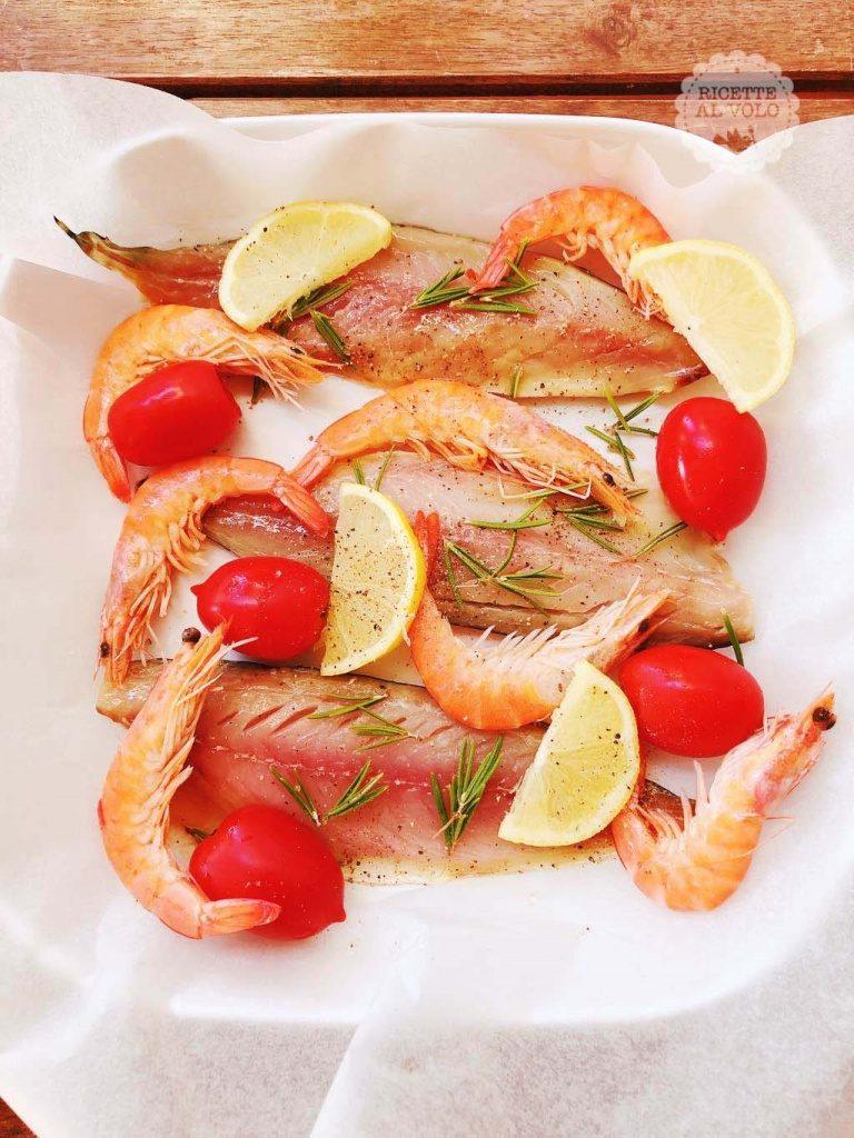 Teglia di pesce misto al forno