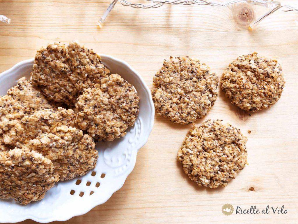 Biscotti light con semi di chia