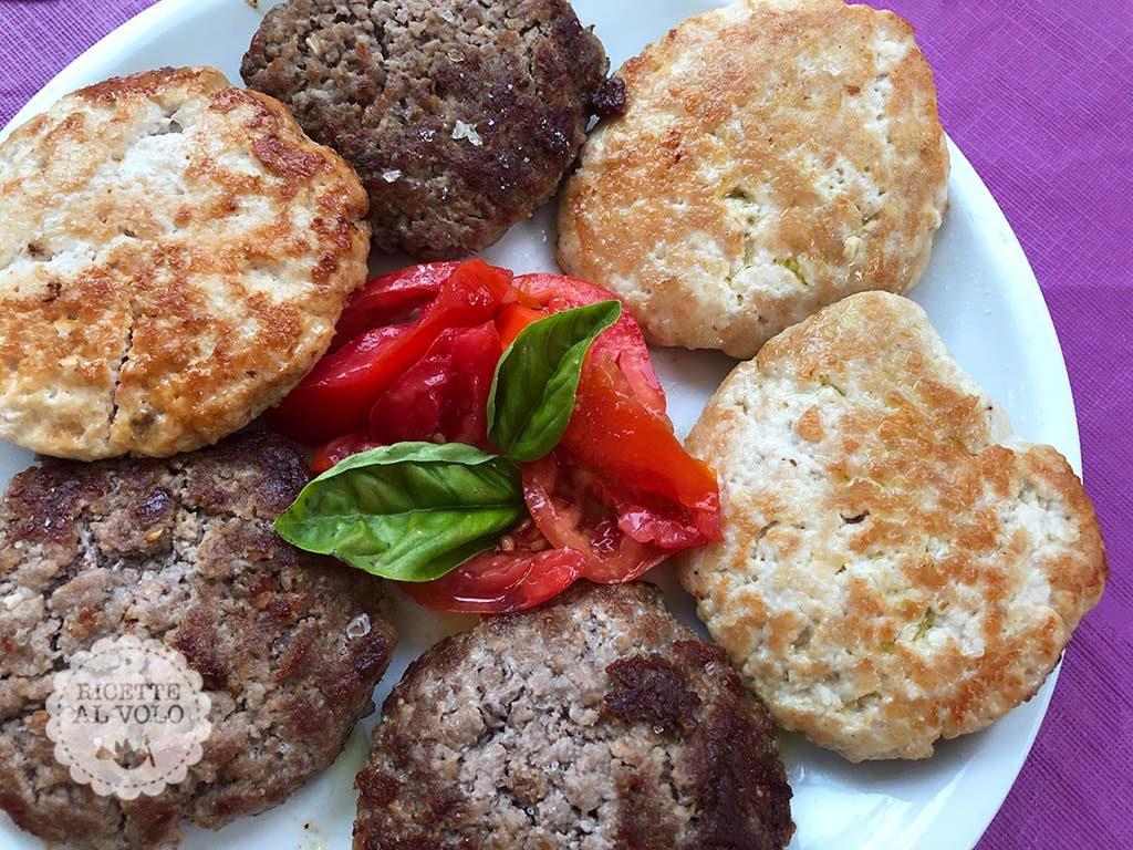 Hamburger di carne ai due gusti