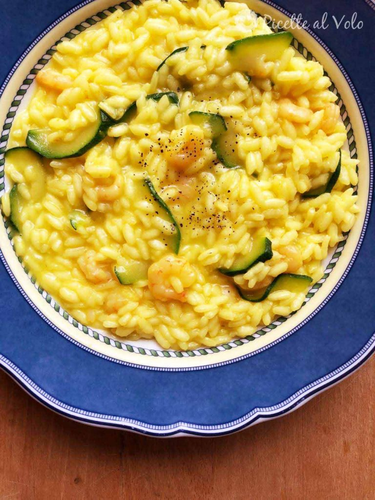 Risotto gamberetti e zucchine al profumo di limone