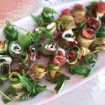 rotolini di zucchine grigliate ripieni con speck e robiola