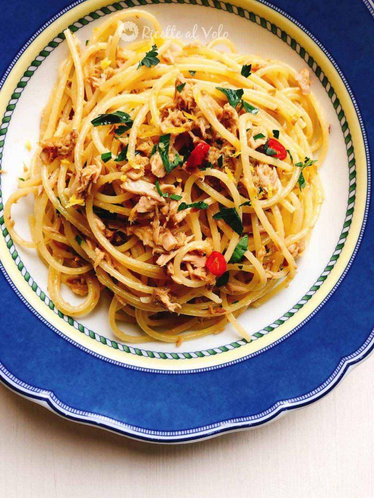Spaghetti con tonno e limone ricetta salva cena