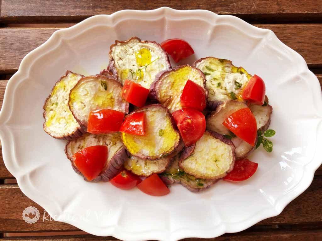 melanzane grigliate con pomodori