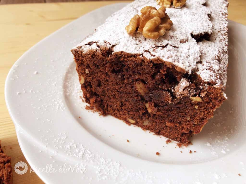 Plumcake al cioccolato fondente e noci