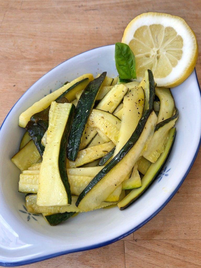 Zucchine al limone contorno fresco e veloce