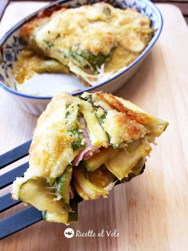 Sformato di zucchine gratinato