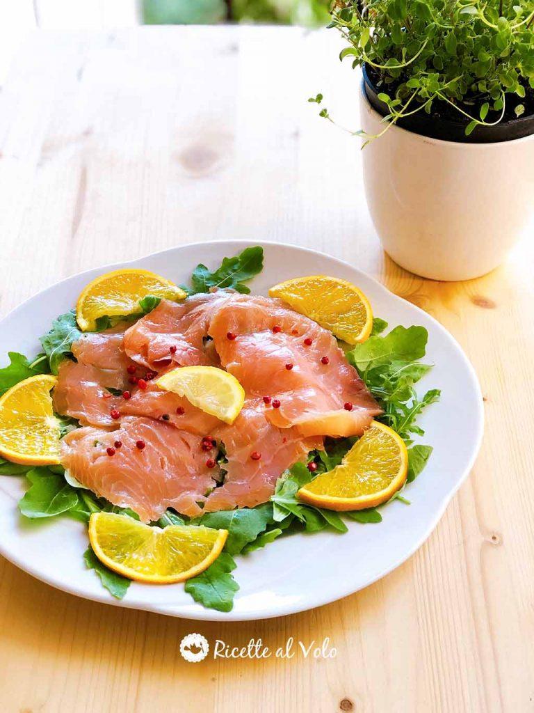Salmone affumicato agli agrumi