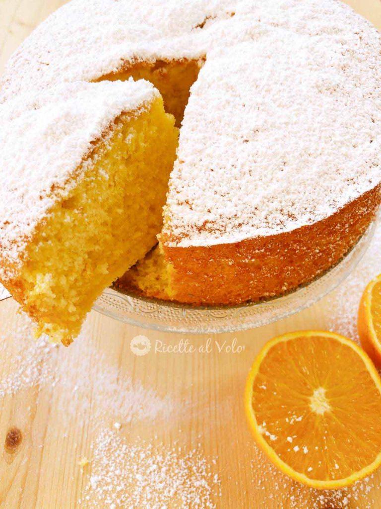 Torta all'arancia sofficissima
