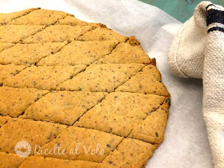 Biscotti con farina di riso e fiocchi di avena