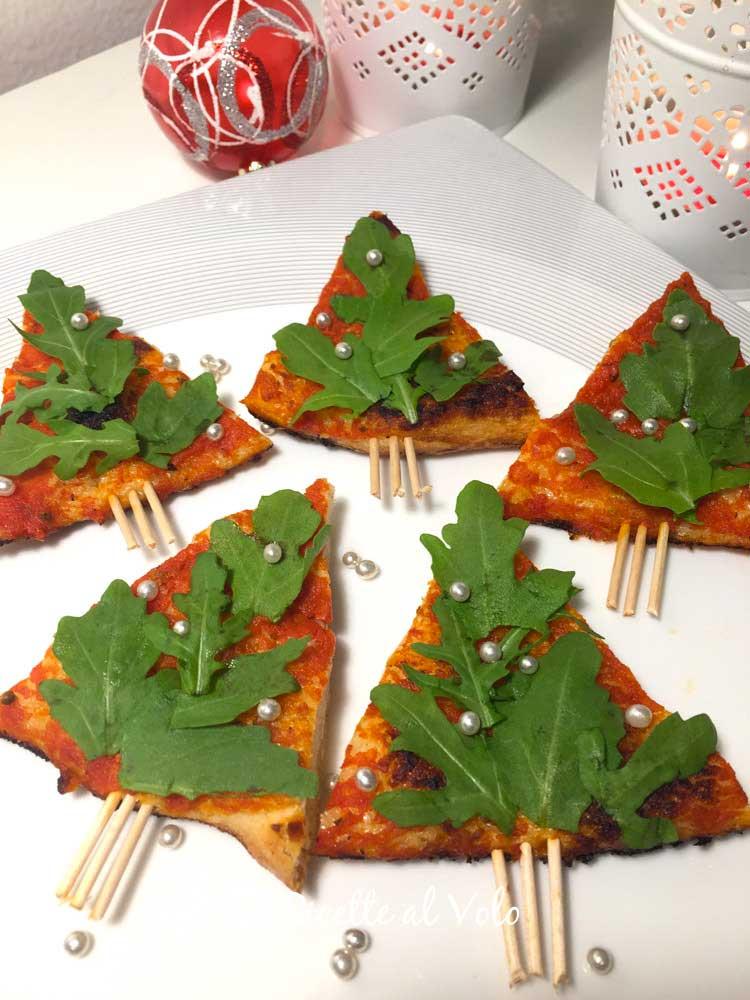 pizzette di Natale a forma di alberello