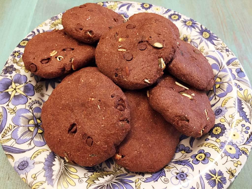 Biscotti integrali al cacao con semi di zucca