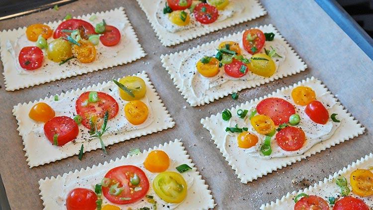 Sfogliatine al pomodoro fresco