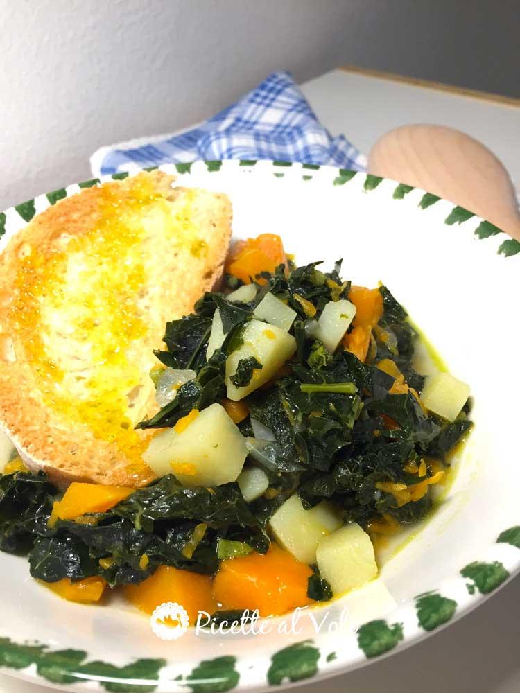 Zuppa di cavolo nero e zucca