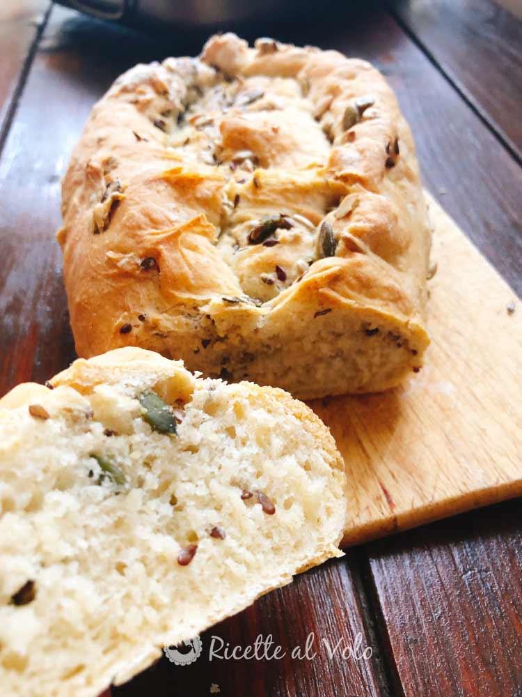 Pane senza impasto con semi misti