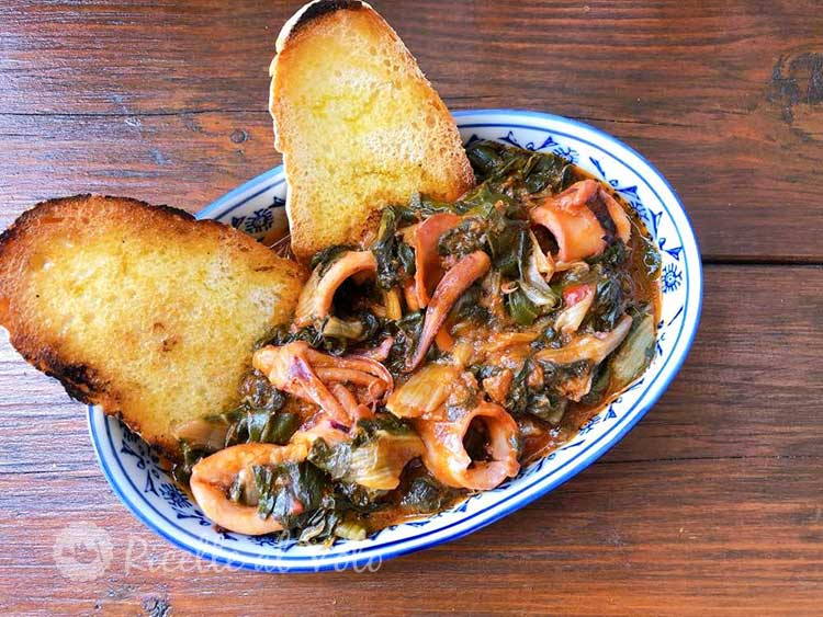 Inzimino di calamari ricetta toscana