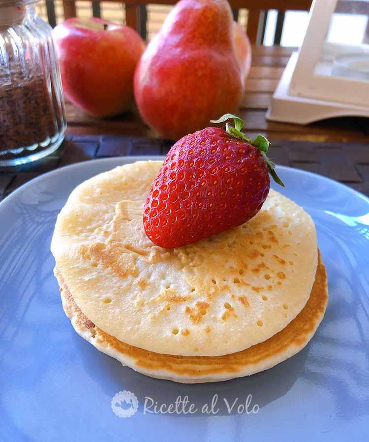 Pancake vegani con cioccolato