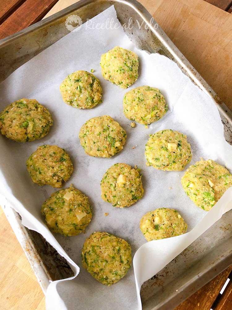 Polpette di zucchine al formaggio