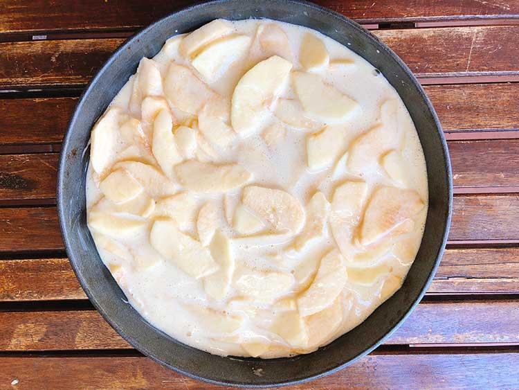 Torta di mele light con tante mele