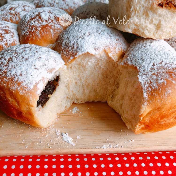 Danubio dolce ripieno di Nutella