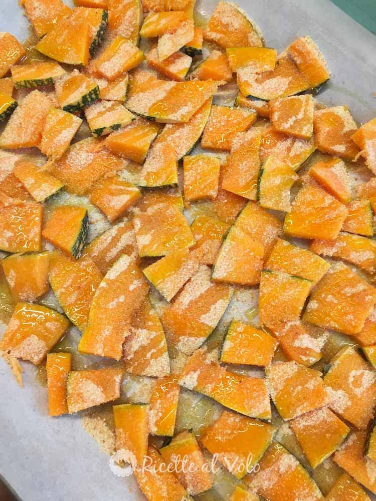 Zucca al forno con pangrattato
